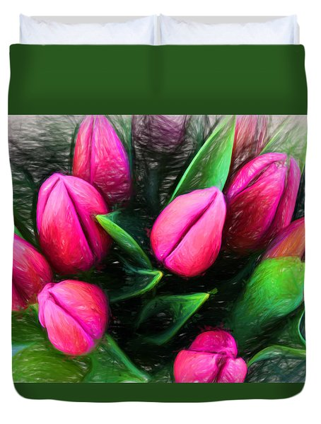 Petal Portrait Duvet Cover by Terry Cork