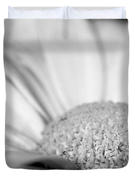 Duvet Cover featuring the photograph Petals - Black And White by Angela Rath