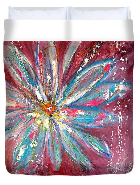Petals Exploding Duvet Cover