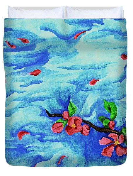 Petals In The Wind I Duvet Cover by Robert Morin