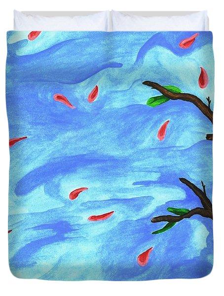 Petals In The Wind II Duvet Cover by Robert Morin