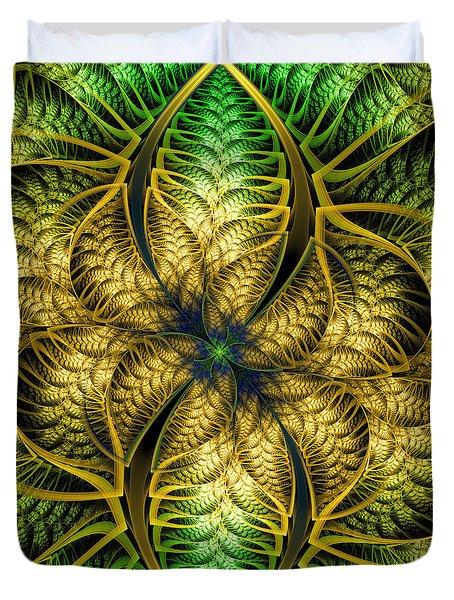 Petals Of Life Duvet Cover by Deborah Benoit