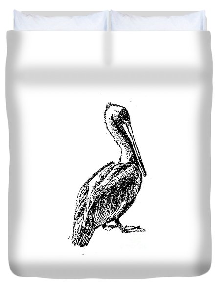 Pete The Pelican Duvet Cover