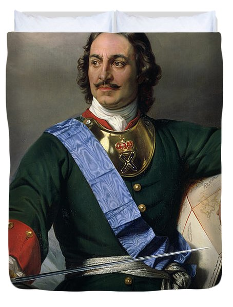 Peter I The Great Duvet Cover by Delaroche