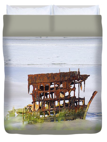 Peter Iredale Duvet Cover by Angi Parks