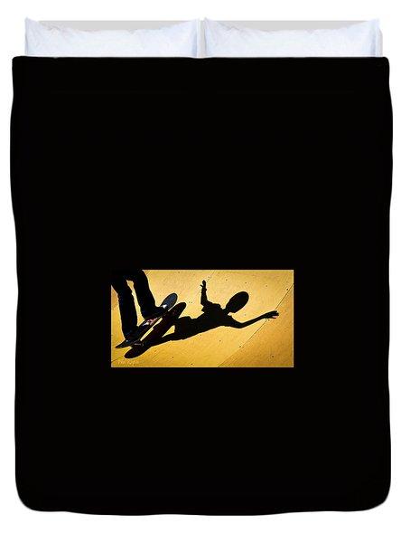 Peter Pan Skate Boarding Duvet Cover