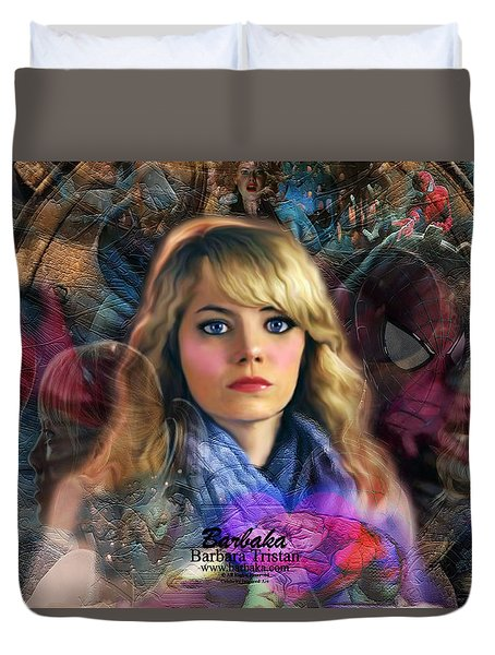 Peter Parker's Haunting Memories Of Gwen Stacy Duvet Cover by Barbara Tristan