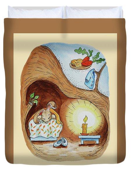 Peter Rabbit Watercolour Illustration II Duvet Cover