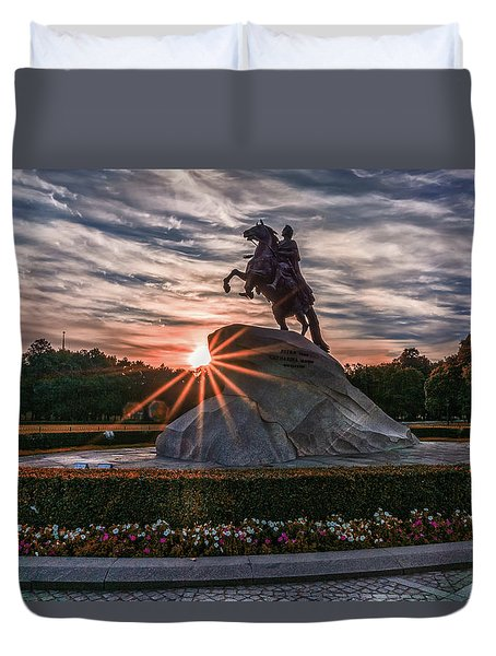 Peter Rides At Dawn Duvet Cover