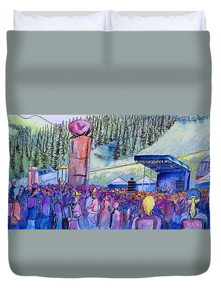 Peter Rowen At Copper Mountain Duvet Cover