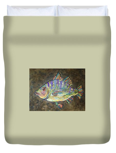 Peter The Perch Duvet Cover