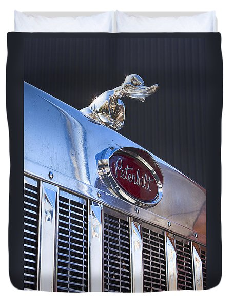 Peterbilt Angry Duck Duvet Cover by Theresa Tahara