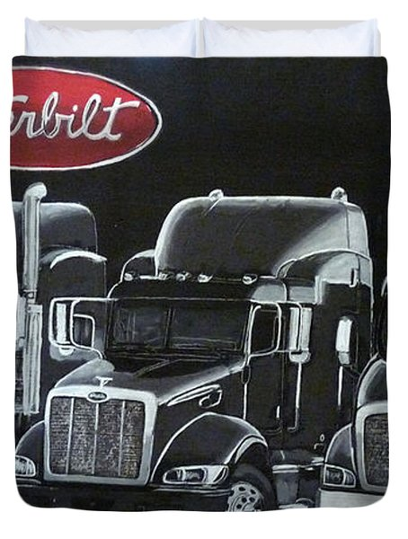 Peterbilt Trucks Duvet Cover