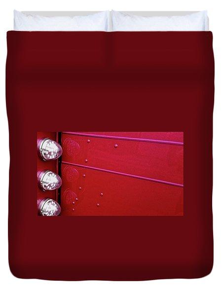Peterbuilt Hood And Lamps Duvet Cover