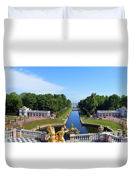 Peterhof Place Gardens Duvet Cover