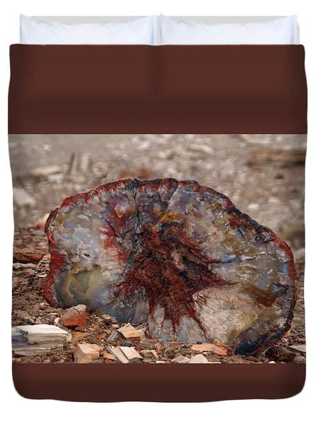 Duvet Cover featuring the photograph Peterified Jewel by Melissa Peterson