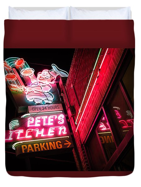 Pete's On Colfax Duvet Cover