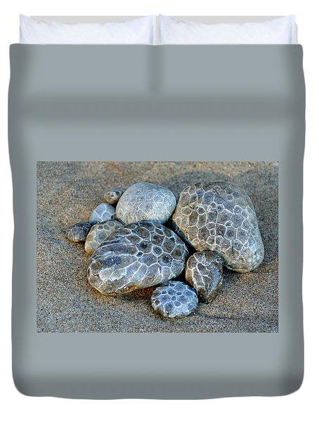 Petoskey Stones Duvet Cover
