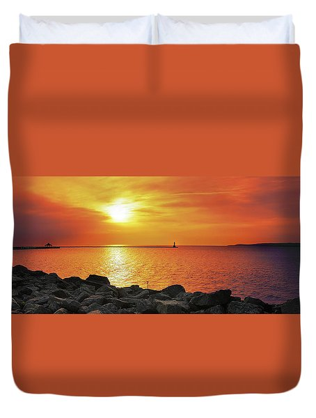 Petoskey Sunset Duvet Cover