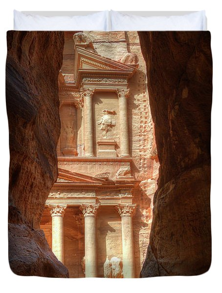 Petra Treasury Revealed Duvet Cover