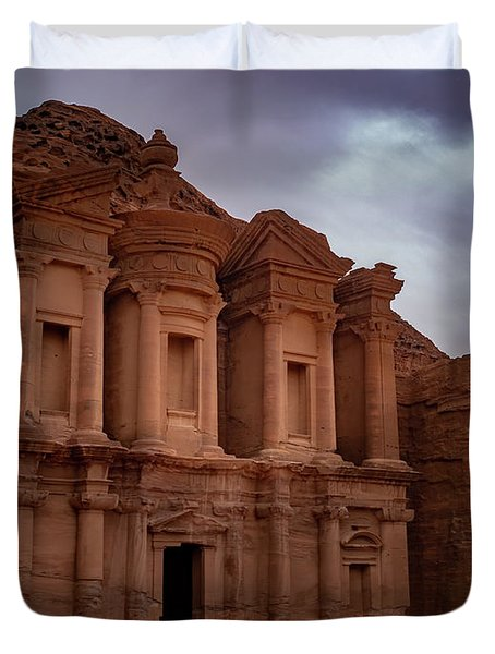 Petra's Monastery Duvet Cover