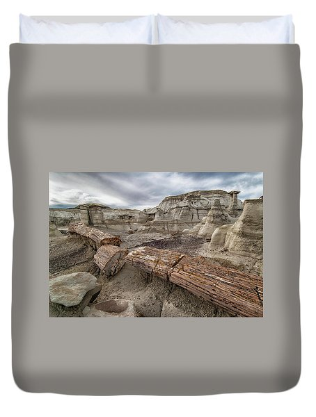 Duvet Cover featuring the photograph Petrified Remains by Alan Toepfer