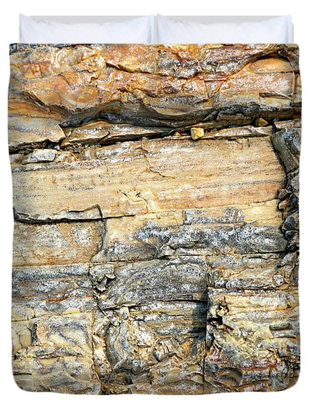Petrified Wood Nature Abstract Duvet Cover