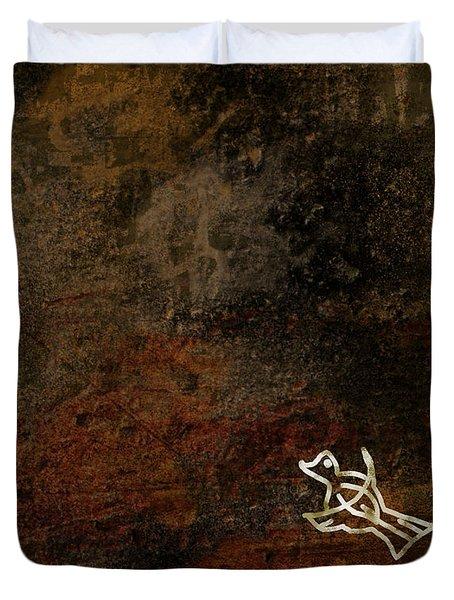 Petroglyph 5 Duvet Cover