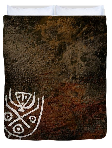 Petroglyph 7 Duvet Cover
