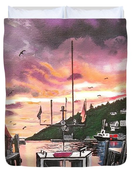 Petty Harbour Duvet Cover