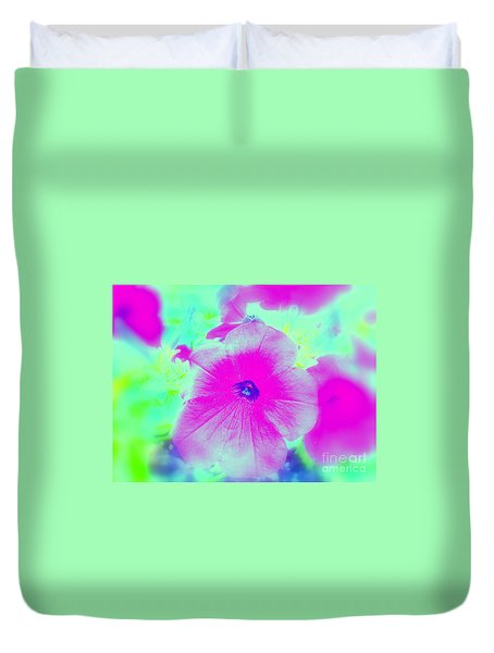 Petunia Glow E Duvet Cover by Greg Moores