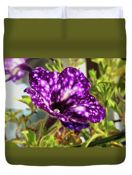 petunia nightsky,Helloween colors  Duvet Cover by Tamara Sushko