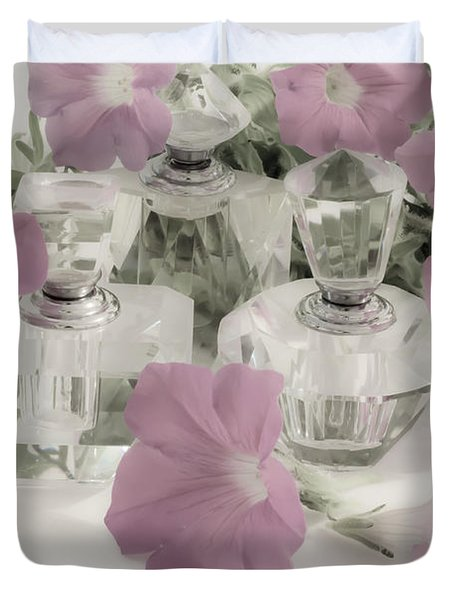Petunias And Perfume - Soft Duvet Cover by Sandra Foster