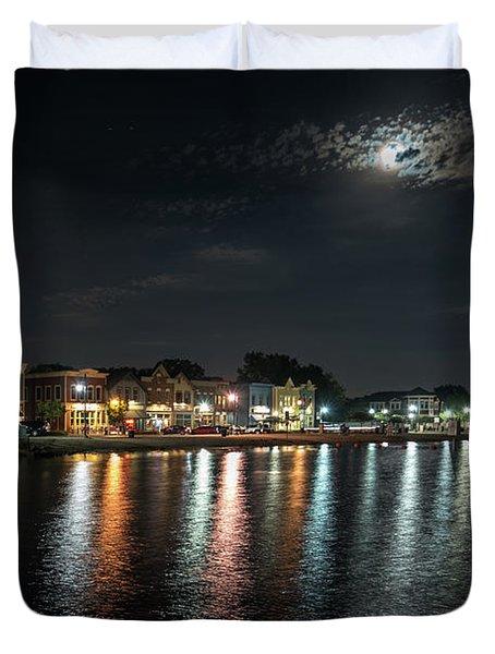 Pewaukee At Night Duvet Cover