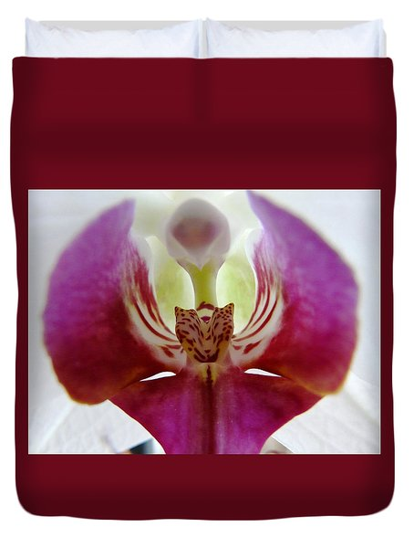 Phalaenopsis Orchid Detail Duvet Cover by Valerie Ornstein