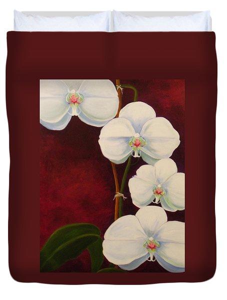 Phaleanopsis Duvet Cover by Anne Marie Brown