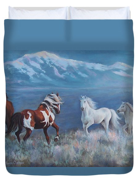 Phantom Of The Mountains Duvet Cover