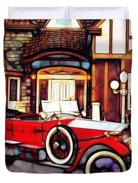 Phantom Rolls Royce 1935 Duvet Cover