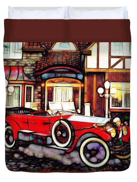 Phantom Rolls Royce 1935 Duvet Cover