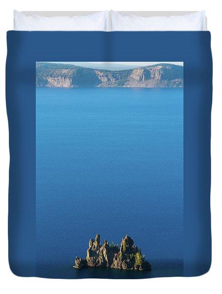 Phantom Ship Island Crater Lake National Park Oregon 2 Duvet Cover