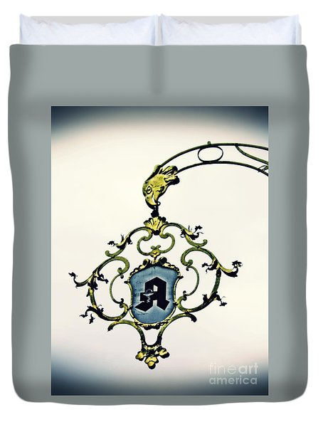 Pharmacy Sign In Wiesbaden      Duvet Cover by Sarah Loft