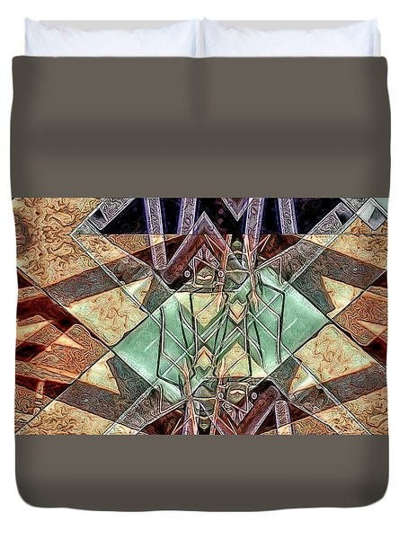 Phasmids Duvet Cover by Ron Bissett