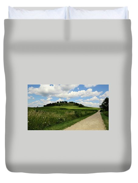 Duvet Cover featuring the photograph Pheasant Branch Hill by Kimberly Mackowski