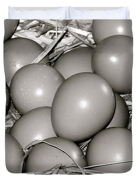 Pheasant Eggs Duvet Cover by Karon Melillo DeVega