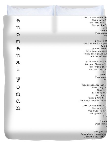 Phenomenal Woman By Maya Angelou - Feminism Poetry Duvet Cover
