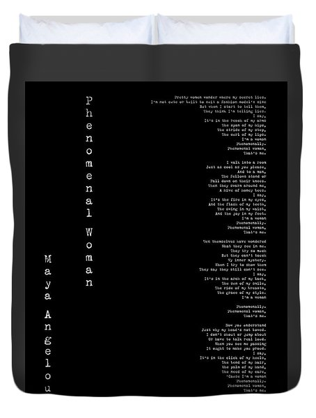 Phenomenal Woman By Maya Angelou - Feminist Poetry Duvet Cover