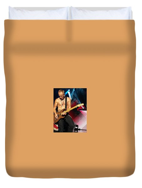 Phil Collen Of Def Leppard 2 Duvet Cover by David Patterson
