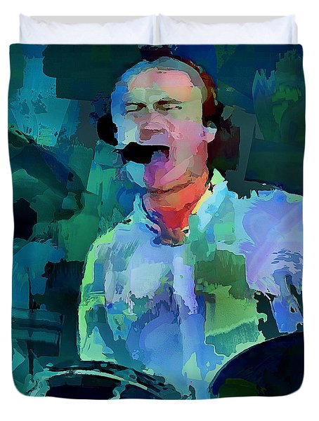 Phil Collins Drums Duvet Cover