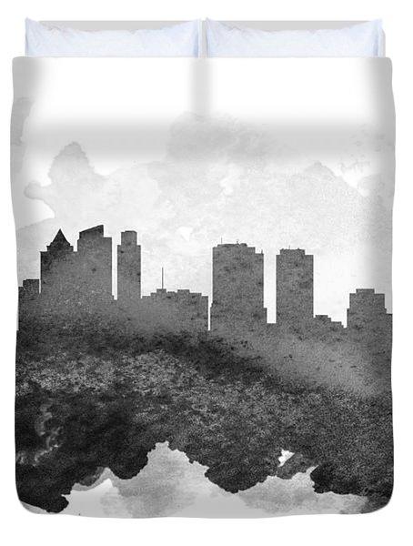 Philadelphia Cityscape 11 Duvet Cover by Aged Pixel