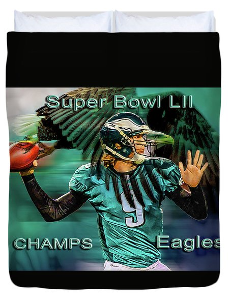 Philadelphia Eagles - Super Bowl Champs Duvet Cover